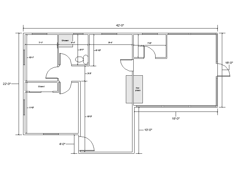 simple blank floor plan